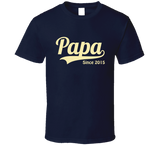 Papa Since Any Year T Shirt - Original James Tee  - 3