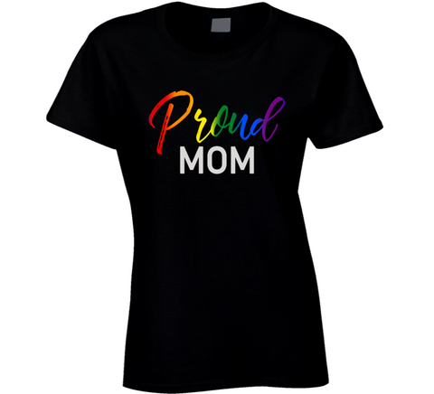 Proud Mom LGTBQ2 Pride T Shirt, Proud Mother of LGBTQ Gay Pride Parent Son Daughter T Shirt, Pride shirt, Rainbow proud, Proud Mom shirt, - Original James Tee