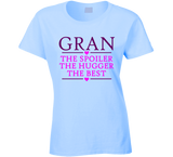 Gran the Spoiler the Hugger the Best T Shirt - Original James Tee  - 2
