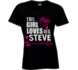 This Girl Loves Her Any Name Custom Name T Shirt - Original James Tee  - 2