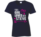 This Girl Loves Her Any Name Custom Name T Shirt - Original James Tee  - 1