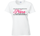 Nana personalized T shirt with Grandkids Names - Original James Tee  - 2