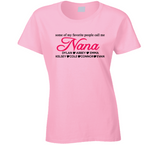 Nana personalized T shirt with Grandkids Names - Original James Tee  - 1