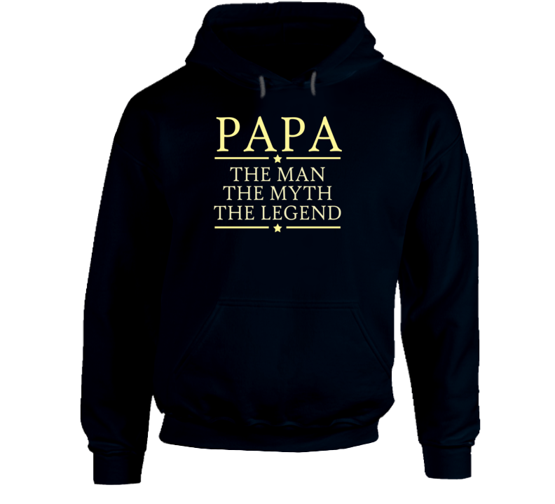 Papa the Man the Myth the Legend Hoodie - Original James Tee  - 1