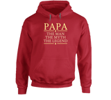 Papa the Man the Myth the Legend Hoodie - Original James Tee  - 3
