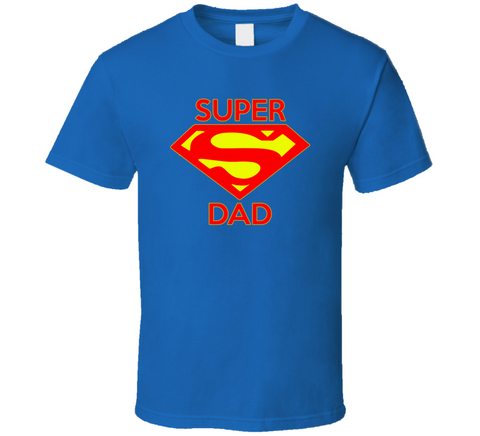 Super Dad Vintage Style Super hero T Shirt - Original James Tee
