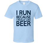 I Run Because I Really Like Beer T Shirt - Original James Tee  - 4