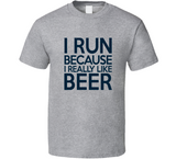 I Run Because I Really Like Beer T Shirt - Original James Tee  - 3