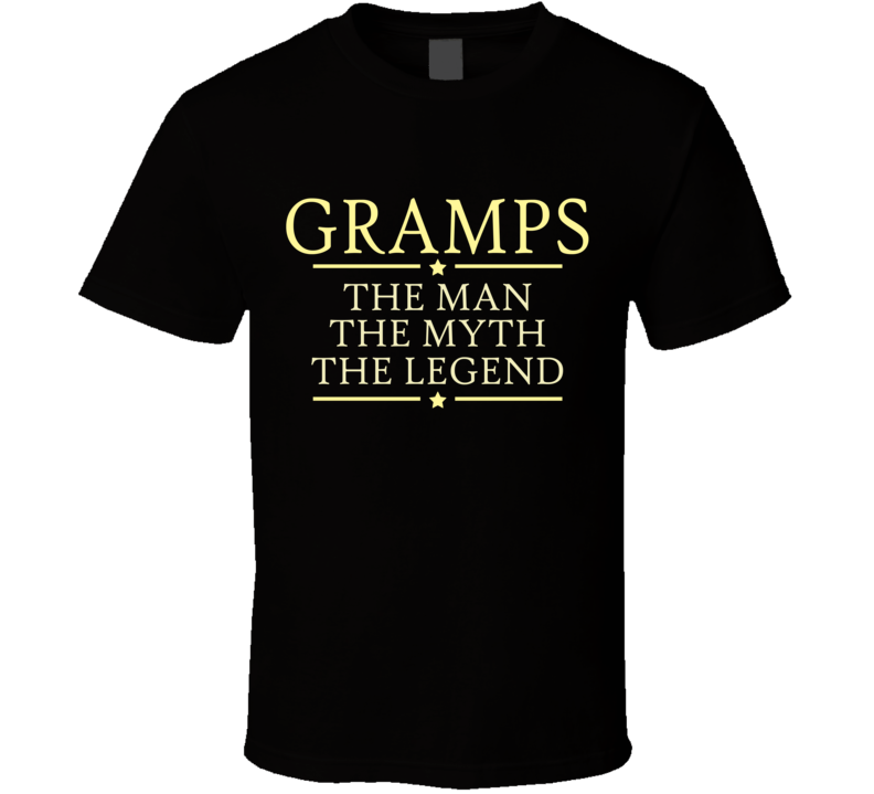 Gramps the Man the Myth the Legend T Shirt - Original James Tee