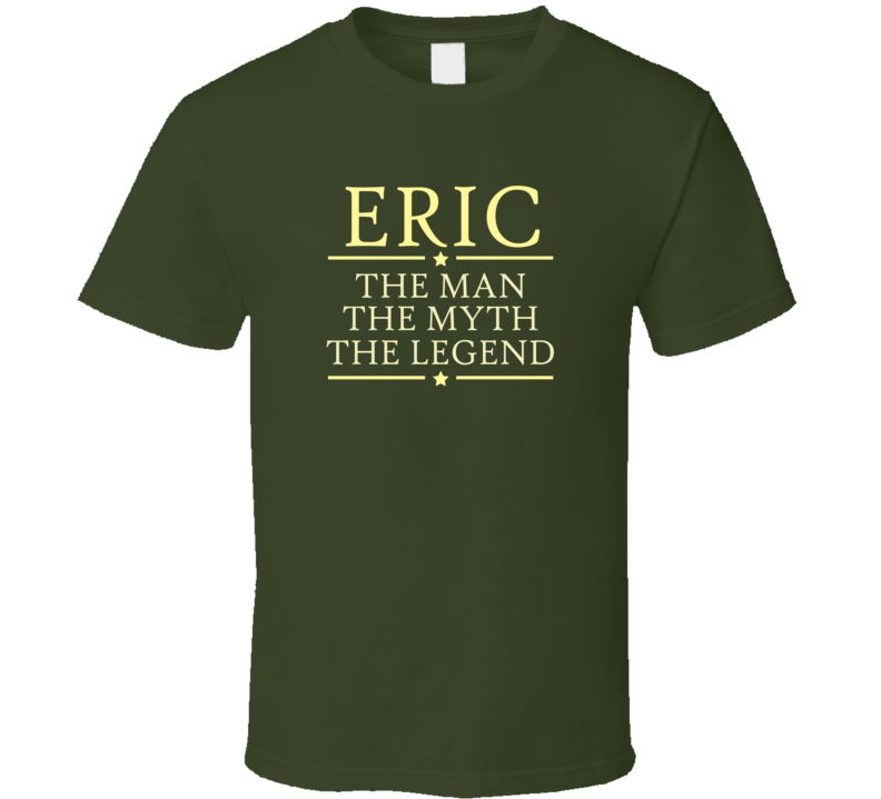 Man Myth Legend T Shirt Personalized - Original James Tee  - 1