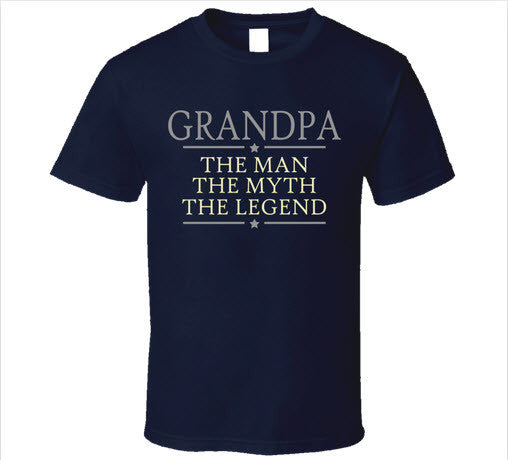 Grandpa the Man the Myth the Legend T Shirt - Original James Tee  - 2