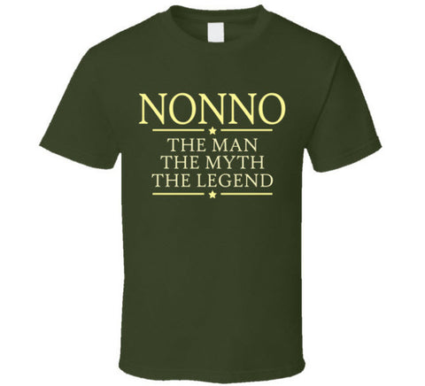 Nonno the Man the Myth the Legend T Shirt - Original James Tee - 1