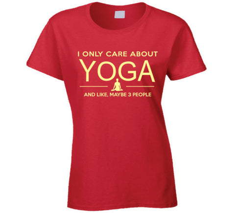 I Only Care About Yoga T Shirt - Original James Tee  - 1