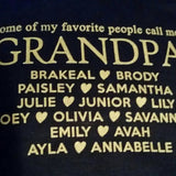 Grandpa T Shirt with Grandkid's Names - Original James Tee