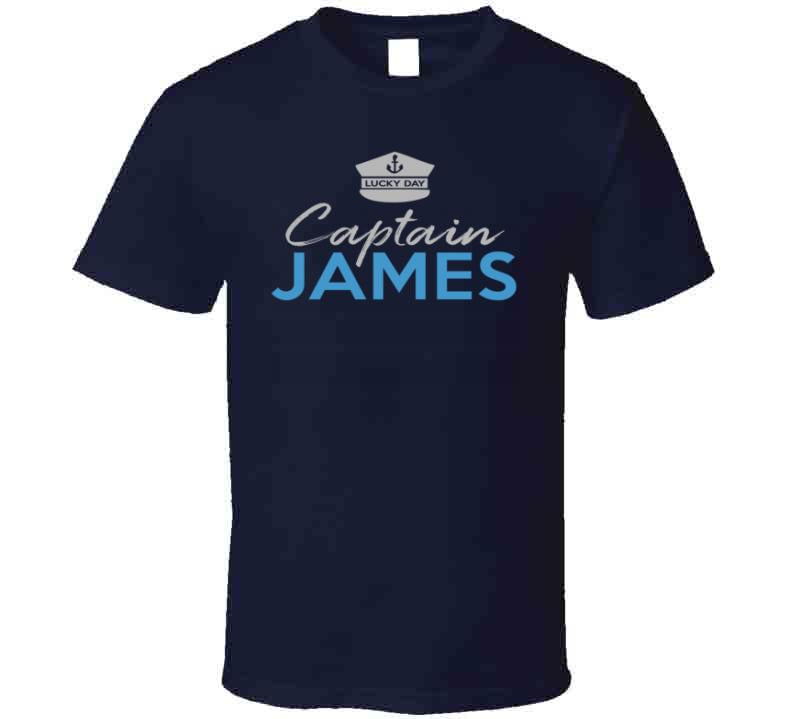 Captain and Boat name personalized sailing boating yachting shirt in sizes up to 6XL - Original James Tee