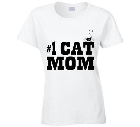 #1 Cat Mom Funny T Shirt - Original James Tee  - 1
