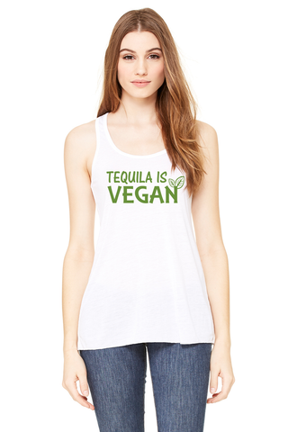 Tequila is Vegan Racerback Tank Top - Original James Tee  - 1