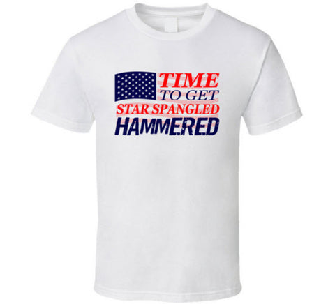 Time to Get Star Spangle Hammered T Shirt - Original James Tee