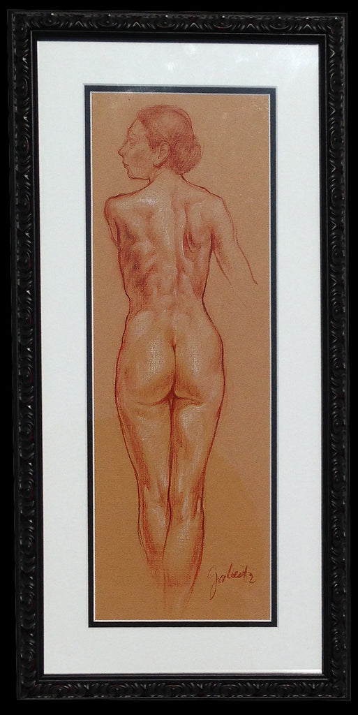 Female Figure Original Hand-Drawn Study [FRAMED]