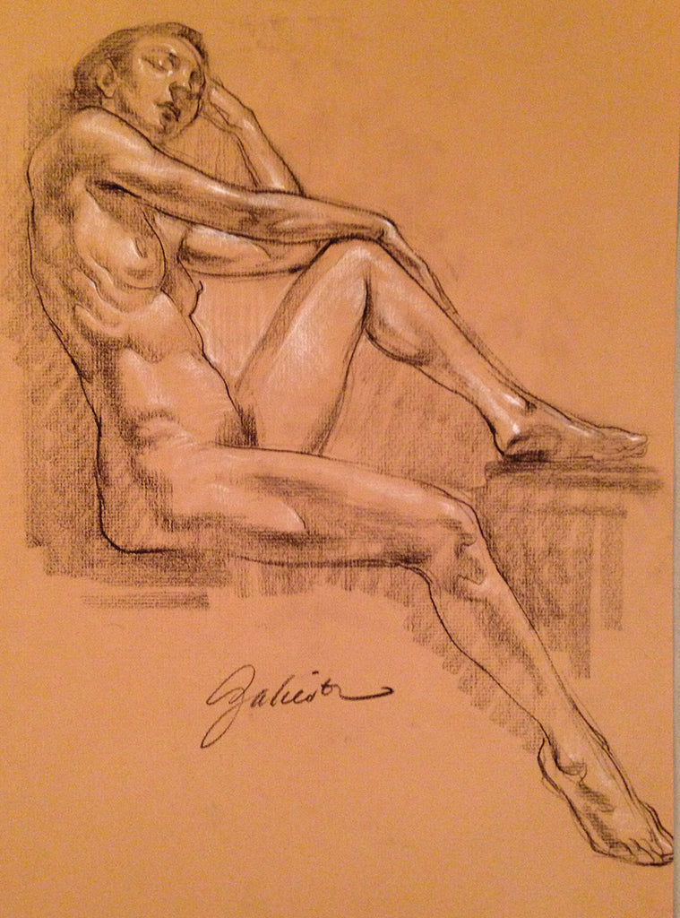 Female Figure Original Hand-Drawn Study #11