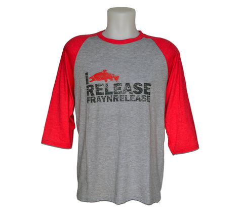 Baseball Long Sleeve - I Release - Red, Chandail Baseball  - ''I Release'' - Rouge