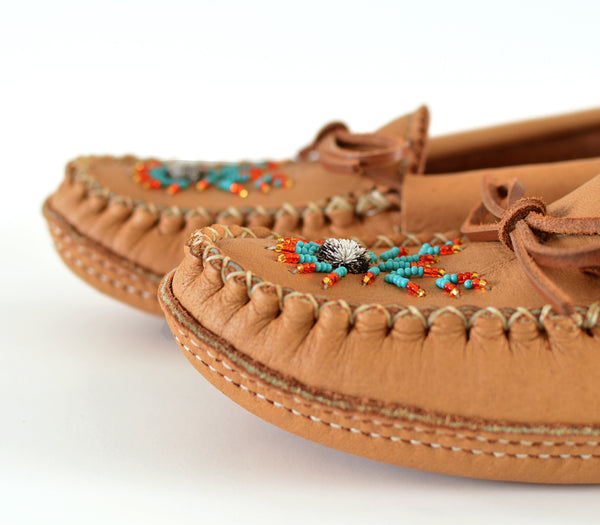 Genuine Leather Moccasin - Women, Véritable mocassin en Cuir- Femme