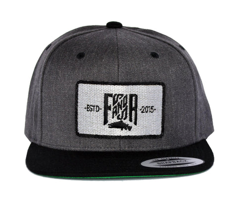 SnapBack Patch - 2 Tones Grey/Black