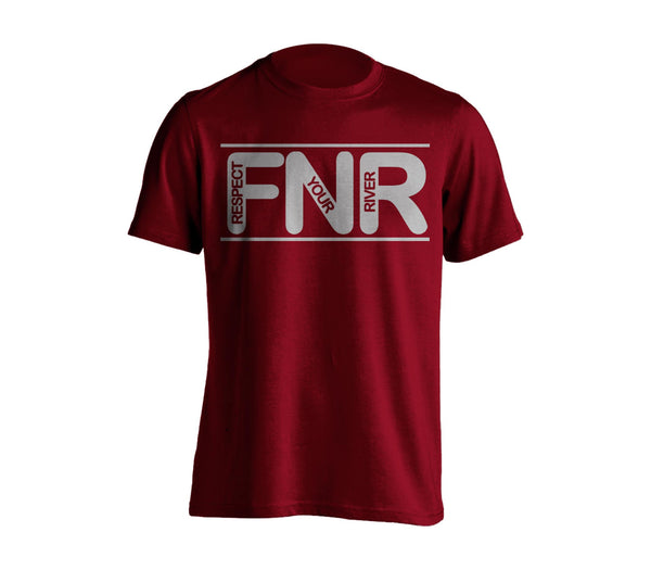 Respect your River T-Shirt - Burgundy, Chandail Respecte ta rivière - Bourgogne