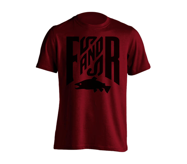 FNR T-Shirt - Burgundy, Chandail FNR - Bourgogne