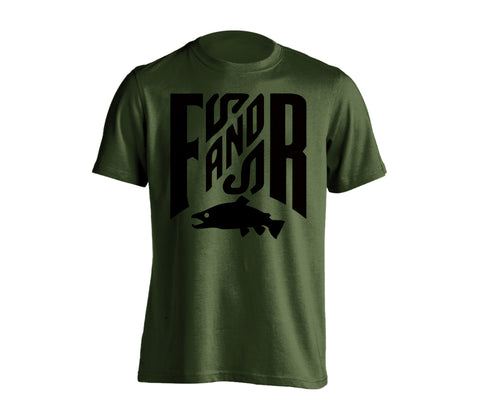 FNR T-Shirt - Military Green, Chandail FNR - Vert Militaire
