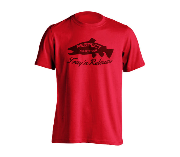 Salmon T-Shirt - Red Heather