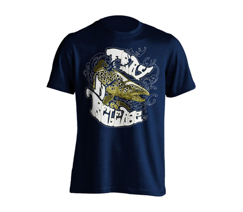 Brown Trout T-Shirt - Navy