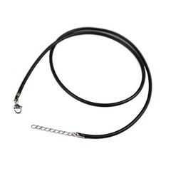 Rubber Necklace - Black