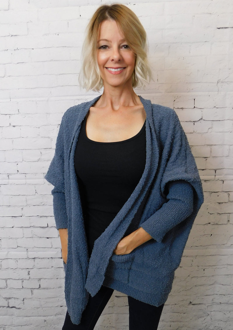 Boucle Open Cardigan
