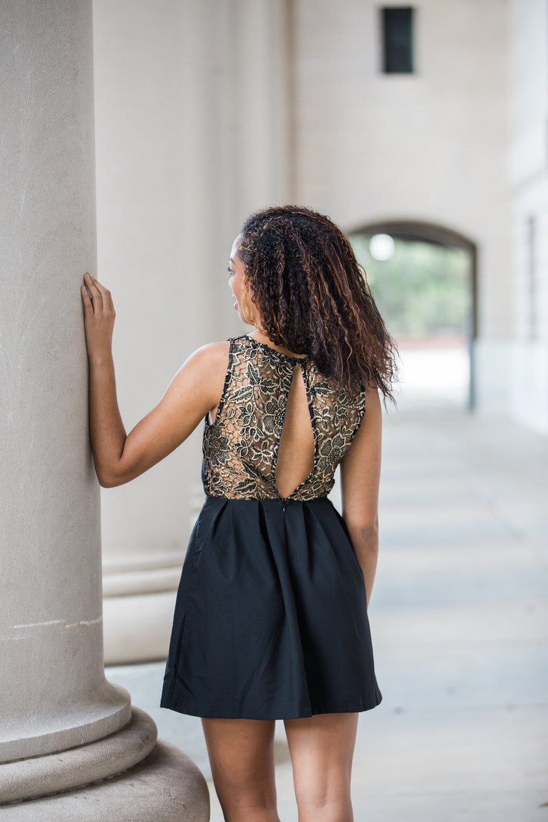 Golden Lace Dress