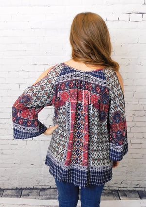 Gypsy Cold Shoulder Blouse