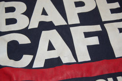 A Bathing Ape Bape Cafe Crewneck Sweatshirt Navy *Used* - RSRV - 4