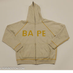 A Bathing Ape / Bape Reversible Zip Up Hoodie Oatmeal/ Plaid *USED* - RSRV - 1