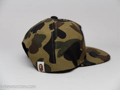 A Bathing Ape 1st Camo Nyc Logo Snap Back Hat Green - RSRV - 2