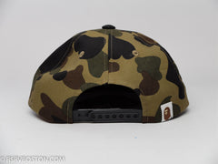 A Bathing Ape 1st Camo Nyc Logo Snap Back Hat Green - RSRV - 3