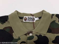 A Bathing Ape 1st Camo Large Head Polo Shirt Green