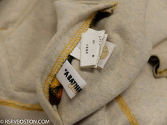 A Bathing Ape / Bape Reversible Zip Up Hoodie Oatmeal/ Plaid *USED* - RSRV - 3