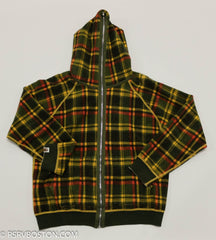 A Bathing Ape / Bape Reversible Zip Up Hoodie Oatmeal/ Plaid *USED* - RSRV - 8
