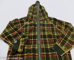 A Bathing Ape / Bape Reversible Zip Up Hoodie Oatmeal/ Plaid *USED* - RSRV - 9
