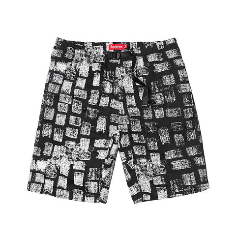 Supreme Block Print Belted Shorts Black SS14