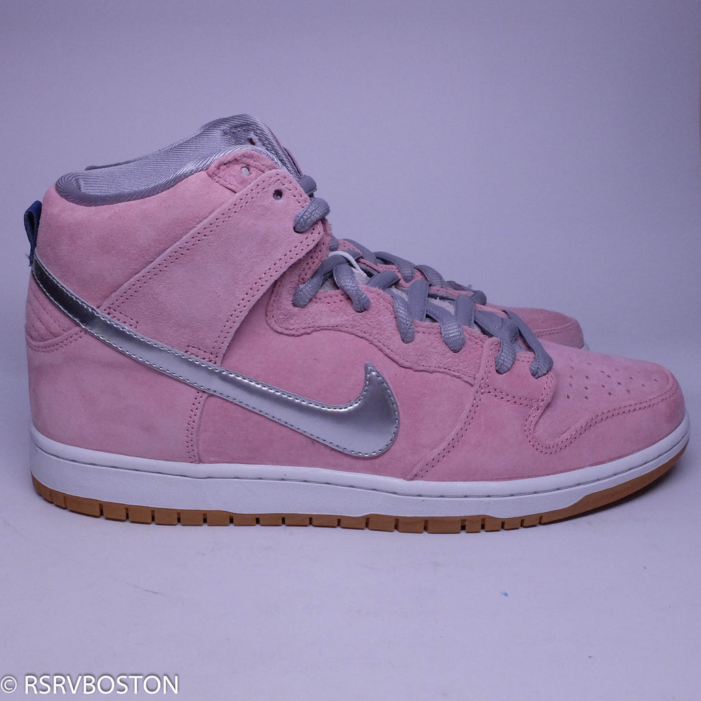 3792e394bb42 ... canada nike dunk high pro sb concepts when pigs fly real pink metallic  silver b449e 9c3f4