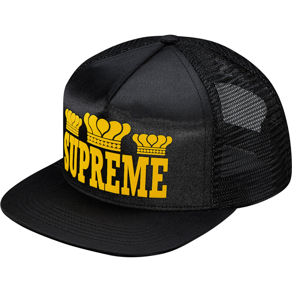 Supreme Champ Mesh back 5 Panel Snapback Hat Black FW15 - RSRV