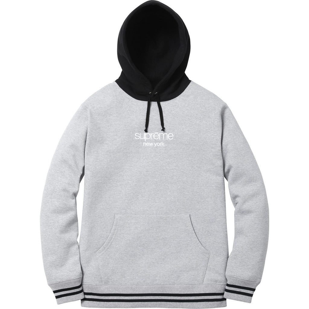 Supreme Classic Logo Hooded Sweatshirt Heather Grey FW15 - RSRV