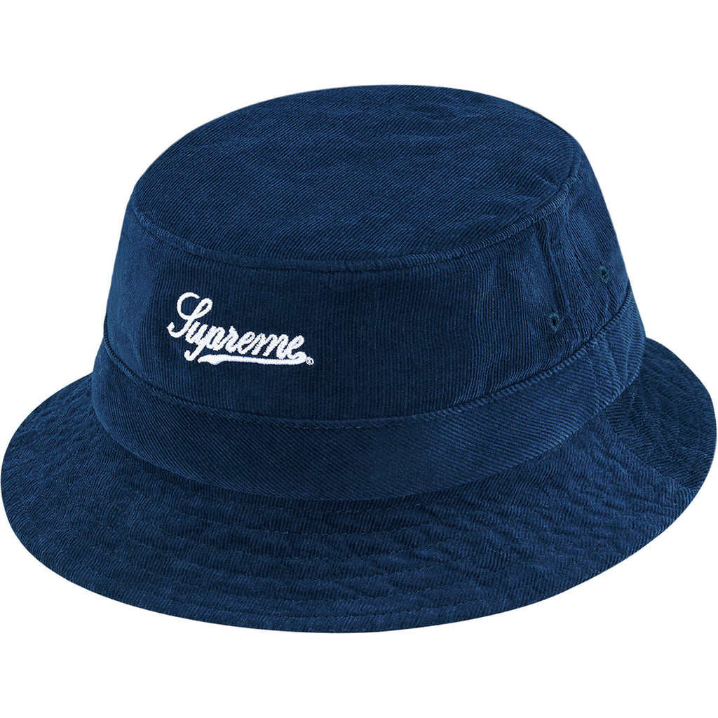 Supreme Corduroy Crusher Bucket Hat Navy Blue SS15 - RSRV