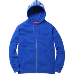 Supreme Hooded Foil Logo Zip Up Hoodie Royal Blue SS15 - RSRV - 1